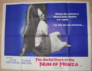 Awful Story of the Nun of Monza (1969) Anne Heywood Film Poster - UK Quad